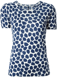 Woolrich Animal Print T Shirt Blue