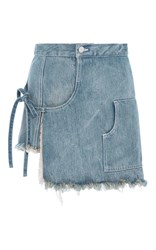 Sandy Liang Storey Denim Skort Light Wash