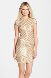 Women's Dress The Population 'Tabitha' Geometric Sequin Minidress