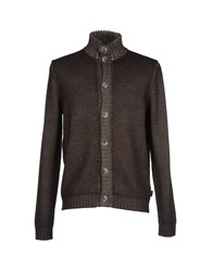 Henry Cotton's Knitwear Cardigans Men Military Green