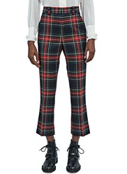 Gucci Cropped Plaid Pants Red