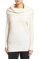 Kendall Kylie Women's Cowl Neck Tunic Sweater Off White