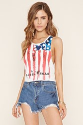 Forever 21 American Flag Graphic Tank