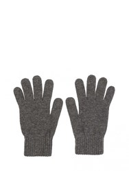 Johnstons Of Elgin Cashmere Mens Gloves Grey
