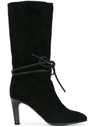Chloe Tie Front Boots Black