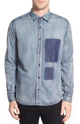 Men's Cheap Monday 'Air Cutout' Chambray Shirt