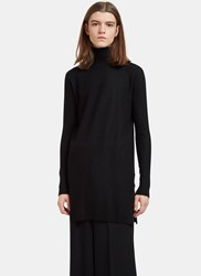 Rick Owens Moody Long Roll Neck Sweater Black