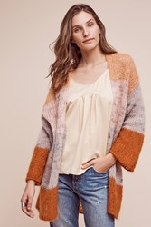 Anthropologie Prix Stripe Cardigan Orange