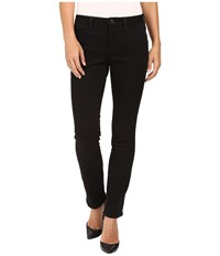 Jag Jeans Petite Portia Straight In Platinum Denim In Black Black Women's