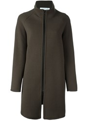 Gianluca Capannolo Stand Collar Coat Green