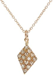 Fabrizio Riva Brown Diamond And Rose Gold Pendant Necklace Colorless