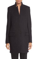 Women's Stella Mccartney Crystal Studded Wool Blend Coat