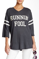 Wildfox Couture Runnin' Fool Jersey Tunic Black