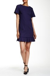 Zac Posen Poppy Shift Dress Blue