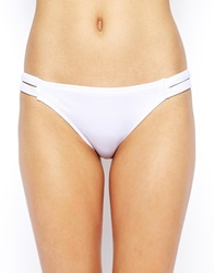 Asos Caged Side Bikini Pant White