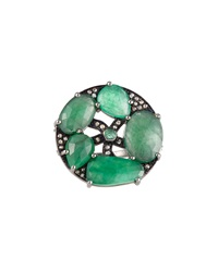 Bavna Emerald And Diamond Pave Cocktail Ring Women's
