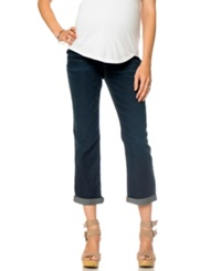 Motherhood Maternity Cropped Cuffed Jeans Indigo Denim