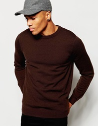 New Look Knitted Crew Neck Jumper Brown
