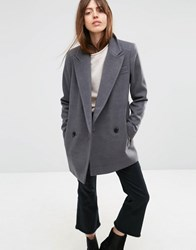 Asos Formal Peacoat Grey