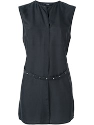 Diesel Belted Sleeveless Blouse Black