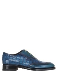 Harris Crocodile Embossed Leather Oxford Shoes