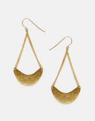 Made Crescent Earrings Brass