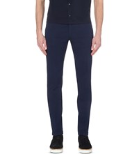 Hugo Boss Leisure Slim Fit Tapered Trousers Navy