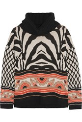 Alice By Temperley Ali Printed Cotton Blend Sweater Taupe