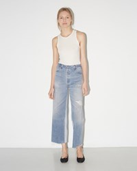 Re Done High Rise Wide Leg Crop Blue