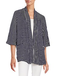 Splendid Meridien Striped Jacket Navy White