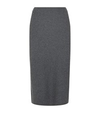 Eileen Fisher Ribbed Knit Pencil Skirt Female Light Grey