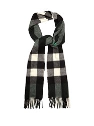 Burberry Checked Cashmere Scarf Green Multi