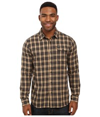 Volcom Fulton Long Sleeve Flannel Gravel Men's Clothing Silver