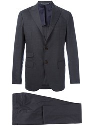 Eleventy Fitted Two Piece Suit Grey