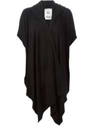 Lost And Found Rooms Draped Hooded Jacket Black