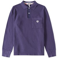 Fred Perry X Nigel Cabourn Long Sleeve Training Polo Purple