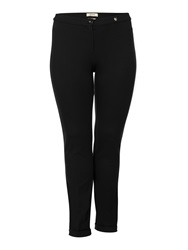 Persona Plus Size Romania Slim Stretch Trouser Black