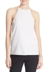 Women's Tibi Silk Halter Top Ivory