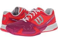 Wilson Rush Pro 2.0 Neon Red Pink Women's Tennis Shoes