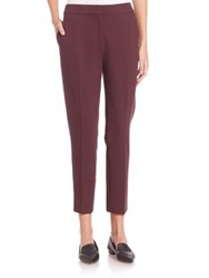 Max Mara Pegno Jersey Cropped Pants Plum