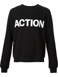 Blk Dnm Action Print Sweatshirt