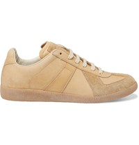 Maison Martin Margiela Replica Leather Sneakers Brown