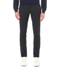 Slowear Regular Fit Tapered Cotton Trousers Navy
