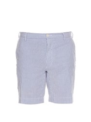 Polo Ralph Lauren Straight Leg Cotton Blend Seersucker Shorts Blue