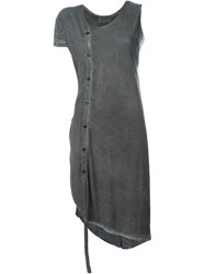Lost And Found Ria Dunn Asymmetric Buttoned Tunic Grey