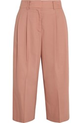 Iris And Ink Phoebe Cropped Twill Wide Leg Pants Pink