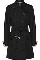 Burberry The Sandringham Cotton Gabardine Trench Coat Black