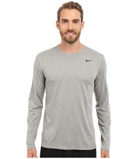 Nike Legend 2.0 Long Sleeve Tee Dark Grey Heather Black Black Men's T Shirt Gray