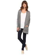 Billabong Outside The Lines Cardigan Dark Athletic Grey Women's Sweater Gray