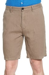 Men's Boss 'Yaron' Linen Shorts Tan
